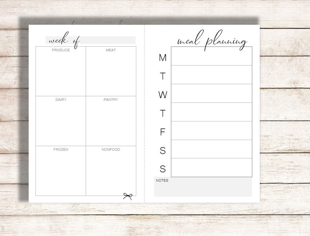 This is a picture of Meal Planning Printable throughout basic