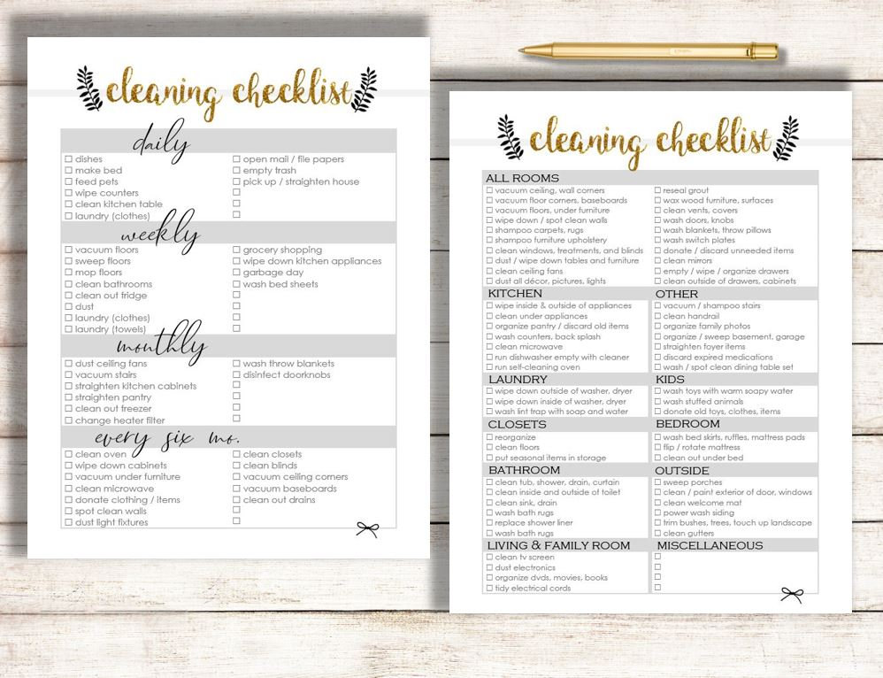 photo about Printable House Cleaning Checklist named Cleansing Listing, Editable Cleansing Record Printable