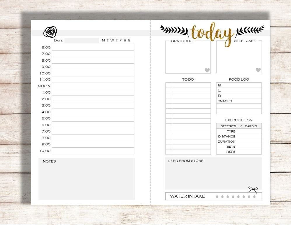 image regarding Daily Printable Calendar identified as Each day Planner Printable, Planner Printable, These days Printable