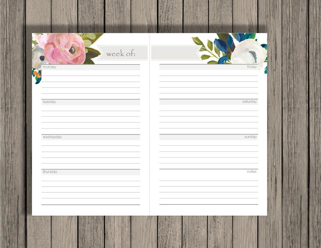 weekly calendar blank week sheets printable calendar confetti