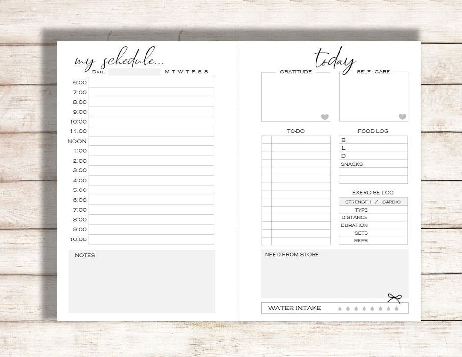 photograph regarding Daily Calendar Printable referred to as Day-to-day Planner Printable, Planner Printable, Nowadays Printable