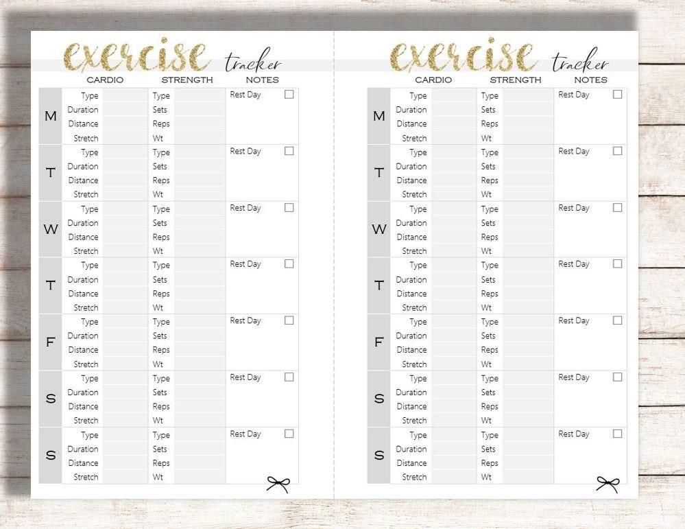 photograph regarding Food Tracker Printable called Health and fitness Tracker Printable, Vitamins Tracker Printable