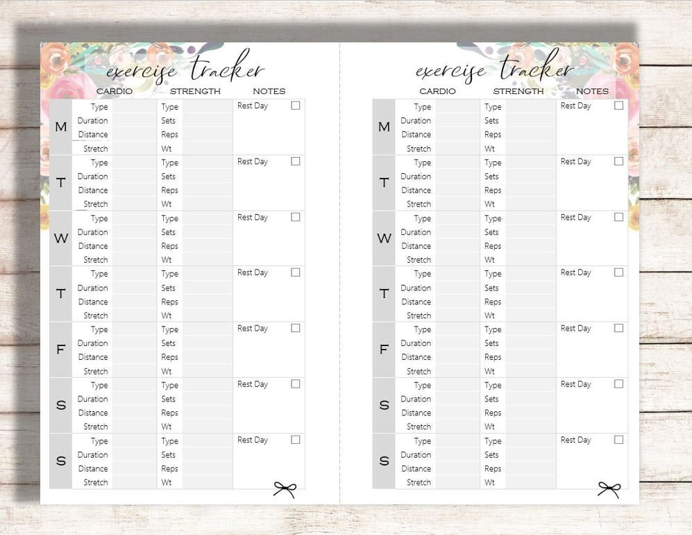 picture regarding Printables Food identify Health Tracker Printable, Vitamins Tracker Printable
