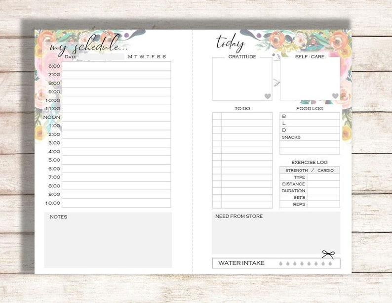 photograph relating to Planner Printable referred to as Every day Planner Printable, Planner Printable, At present Printable, Towards-Do Checklist, Everyday Calendar, Family members Planner Printable, Printable Calendar.