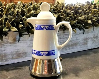 Inoxpran Espresso Coffee Pot RARE Vintage Stove Top Coffee Maker Single Serving Adorable Vintage Kitchen Made in Italy