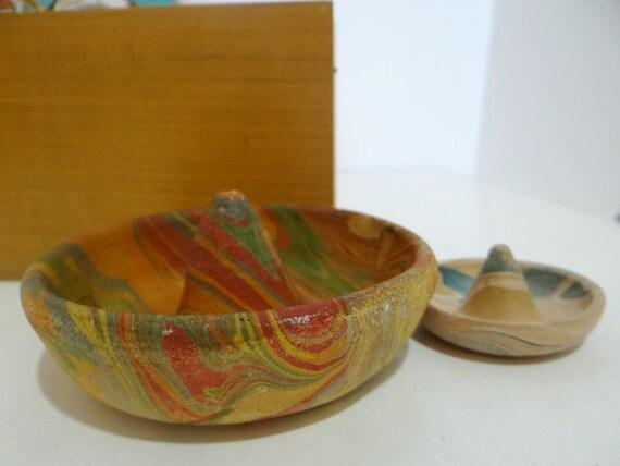 2 Vintage Mexican Sombrero Hats Miniatures Mexico Pottery  c3bc066fe31