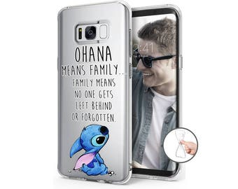 Soft case cover for Samsung Galaxy S8 S8 PLUS Type Lilo & Stitch OHANA