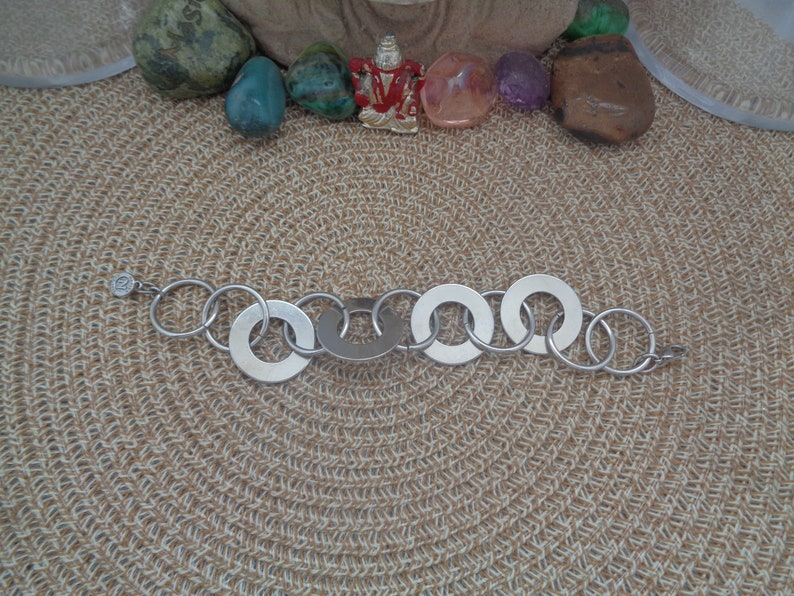 W Lobster Clasp N Tag.8 L and 1 Vintage NAPIER Circa 1960/'s Thin  Round Links mixed with Round Links that have a hole in the Center