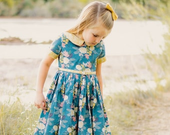 Wendy's Classic Collar Dress | PDF downloadable Sewing Pattern Toddlers Girl Sizes 2T-12