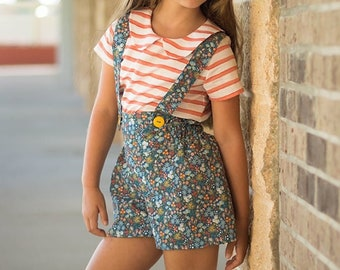 Maggie's High Waisted Shorts . PDF sewing patterns for girls sizes 2t-12