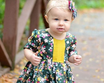 Baby Helena's Button Back Top & Dress PDF Sewing Pattern for Baby Sizes NB-24 Months