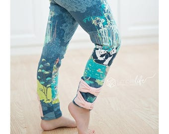 Tiffany's Bow and Ruffle Leggings. PDF Downloadable Sewing patterns for girls and toddlers 2T-12