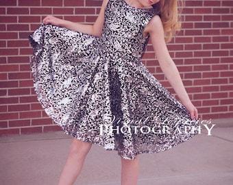 Ayda's V Back Peplum Top & Dress. PDF sewing pattern for toddler girl sizes 2t - 12.