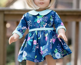 Dolly Wendy. PDF downloadable sewing patterns for DOLLS American Girls, Bitty Baby, Wellie Wishers 14, 15 & 18 inch.