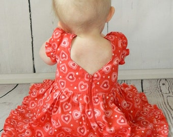 BABY Pearl's Zipper Dress.  Downloadable PDF Sewing Patterns for Baby size Newborn to 24 Months