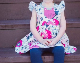 Baby Chloe's Ruffle Leggings, Capris & Shorties. PDF sewing pattern for Baby sizes NB-24 months.