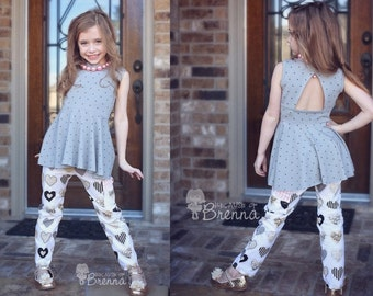 BUNDLE UP: Paisley's, Emilya's. PDF sewing pattern for toddler girl sizes 2t - 12.