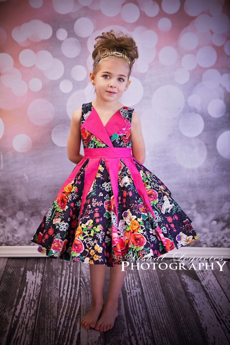 Lillys Lapel Party Dress. PDF sewing pattern for toddler girl image 1