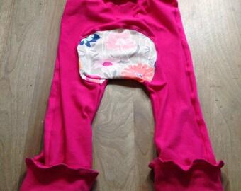 Maxaloones- pink floral bum circle cloth friendly pants