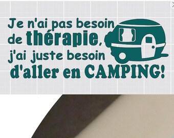 vinyle camping sticker car fifthweel