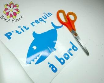 vinyle Baby on board bébé à bord shark