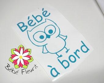vinyle Baby on board bébé à bord