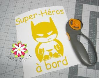 Baby on board super bébé à bord bat boy