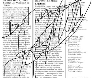 Signed Copy of the Jennifer Mills News