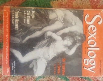 Vintage March 1959 Sexology Magazine feat. Lesbian Marriage, PMS, Artificial Insemination, Sex Magic