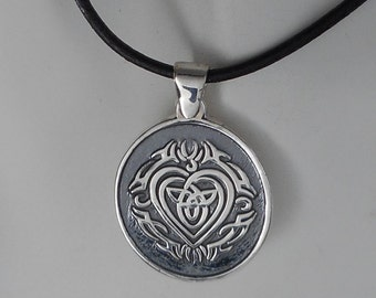 Sterling Silver Celtic Love Knot Necklace Men's Celtic Knot Made in Montana Birthday Gift for Boyfriend Anniversary Gift for Husband