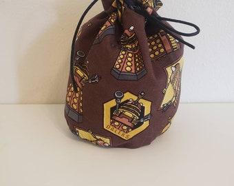 READY TO SHIP Daleks Medium Zippered Bag