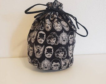 Zippered Pipe Bag 4,3 by 7,9 inch Jewelry Bag Naked Men Bag Dice Bag 11 by 20 cm Gift Bag
