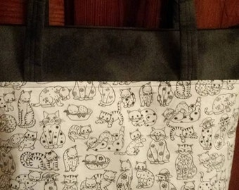 Black and White Cat Purse