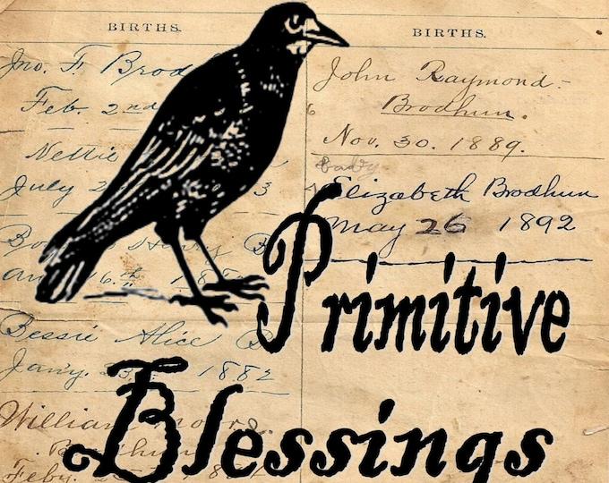 Primitive Blessings primitive rustic FARMHOUSE DECOR art print PB1100