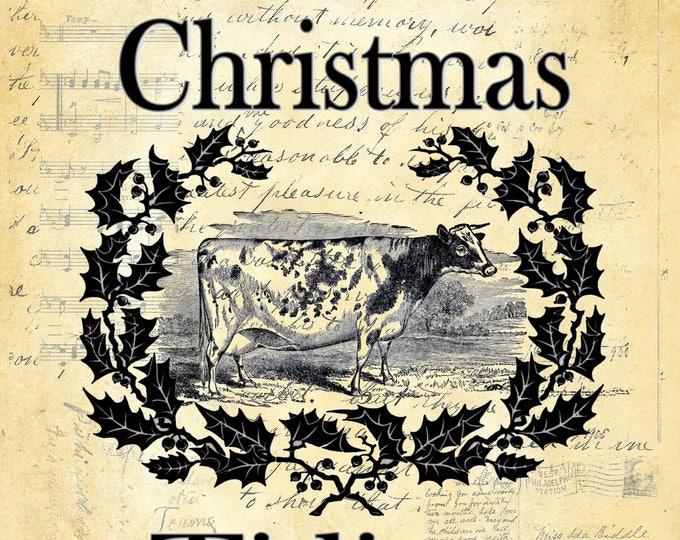 Christmas Tidings cow print CHRI87