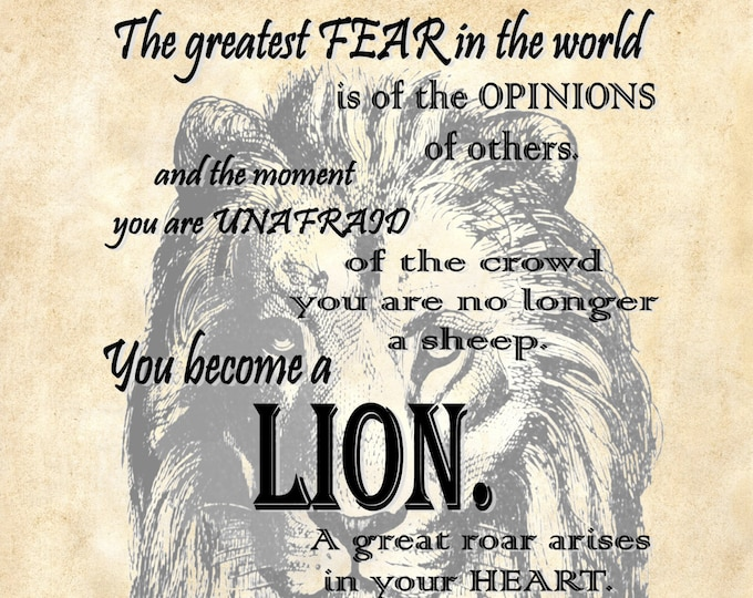 Osho quote lion freedom art print OSHO2987