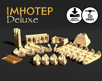 Imhotep Deluxe Digital Edition 3d Printer Download | Temple Obelisk Pyramid Burial Chamber, STL, Custom Board Game Piece, Gamer,KOSMOS GAMES