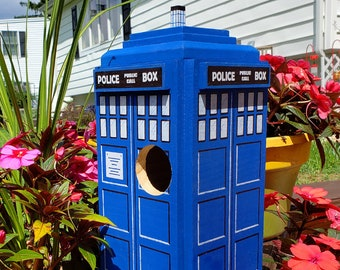 British Police Box Doctor Who TARDIS Bird House