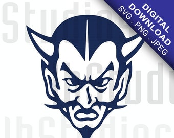Devils School Mascot Vinyl Decal | Digital Download