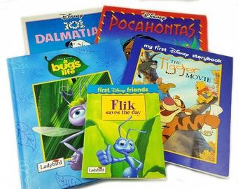 Ladybird Book Disney Large Format Ladybird Gift Set, A Bugs Life, 101 Dalmatians, Flik, Tigger, Winnie the Pooh. Pocahontas