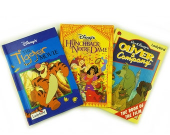 Ladybird Disney Movie 3 Book Gift Set, Tigger, Winnie the Pooh, The Hunchback of Notre Dame, Oliver and Company