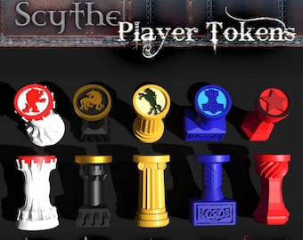 Scythe The 9 Factions Player Action Tokens