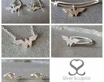 Wonder Woman Sterling Silver Gift Set