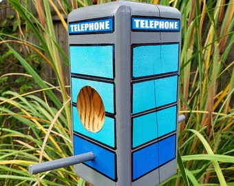 New York / American Telephone Box Bird Feeder - Suet Log & Bark Butter | English Anglophile Lover, Geeky Gifts, Geeky Gardener,  Nerdy Gift