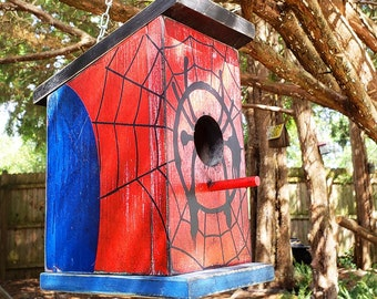 The Spidey House: Spiderman Birdhouse