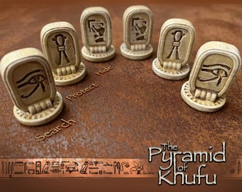 Pyramid of Khufu Tokens - Upgraded Search Protect and Hide Game Pieces
