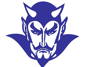 Devils School Mascot Vinyl Decal