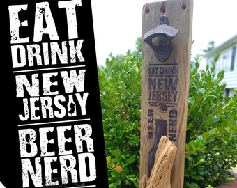 Eat Drink New Jersey Beer Nerd: BLACK Driftwood Antique Rustic Bottle Opener