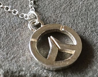 Overwatch Sterling Silver Large Sterling Silver Necklace