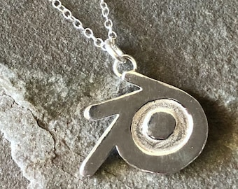 Blender 3D Sterling Silver Medium Necklace